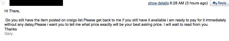 A VERY vague reply