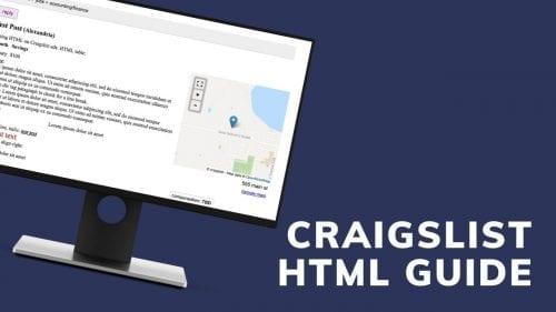 Craigslist HTML guide